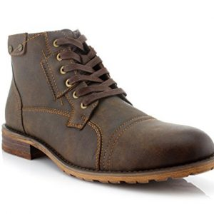Polar Fox Ronny Mens Casual Work Lace Up Classic Motorcycle Combat Boots