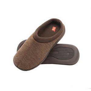 Hanes Men's Memory Foam Indoor Outdoor Clog Slipper Shoe