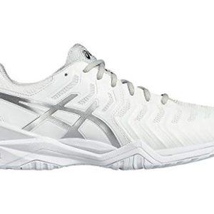 ASICS Men's Gel-Resolution 7 Tennis Shoe, White/Silver
