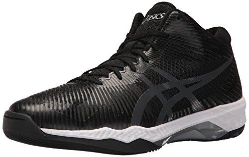 ASICS Mens Volley Elite FF MT Volleyball Shoe, Black/Dark Grey/White