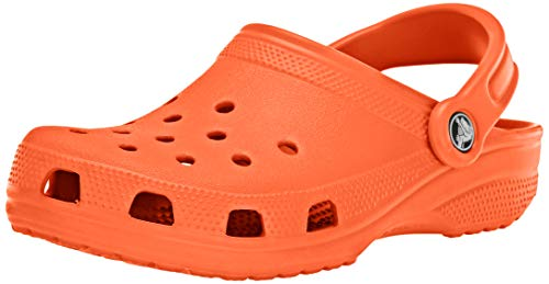 Crocs Classic Clog | Comfortable Slip on Casual Water Shoe, Tangerine, 12 M US Women / 10 M US Men