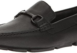 Calvin Klein Men's MOX Weave Emboss Driving Style Loafer, Black