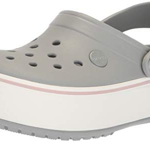 Crocs Crocband Platform ClogLight Grey/Rose,7 US Men / 9 US Women