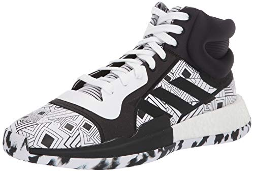 adidas Men's Marquee Boost Low Basketball Shoe, Black/White/Black