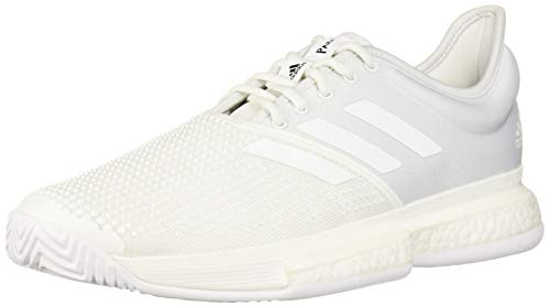 adidas Men's SoleCourt Boost X Parley Tennis Shoe, White/White/Black