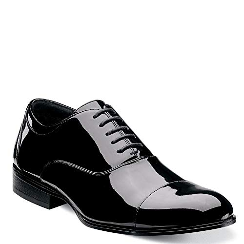 Stacy Adams Men's Gala Tuxedo Oxford, Black Patent