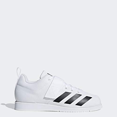 adidas Men's Powerlift 4 Weightlifting Shoe, White/Black/White