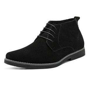 Bruno Marc Men's Chukka Black Suede Leather Chukka Desert Oxford Ankle Boots