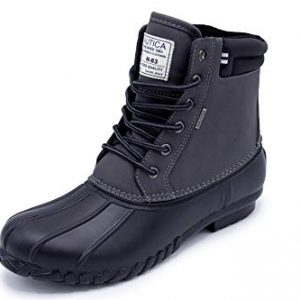 Nautica Mens Duck Boots - Waterproof Shell Insulated Snow Boot - Channing-Charcoal/Black-10