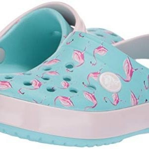 Crocs Baby Crocband Camo Graphic Clog, Ice Blue