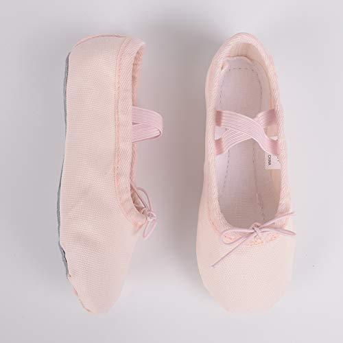 Ruqiji Ballet Shoes for Girls/Toddlers/Kids/Women, Canvas Ballet Shoes/Ballet