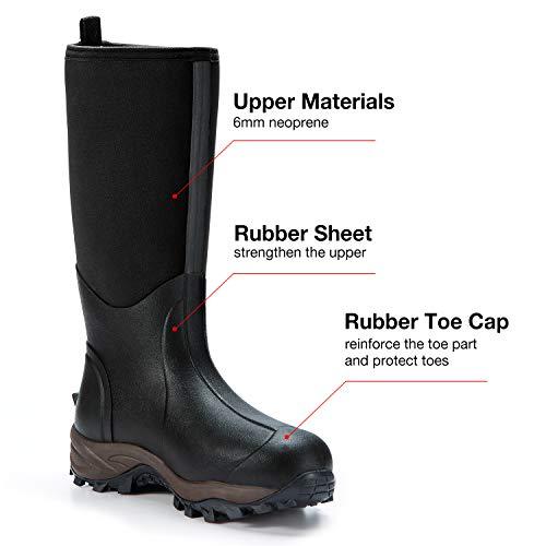 TideWe Rubber Neoprene Boots Men and Women, Waterproof Durable Description: