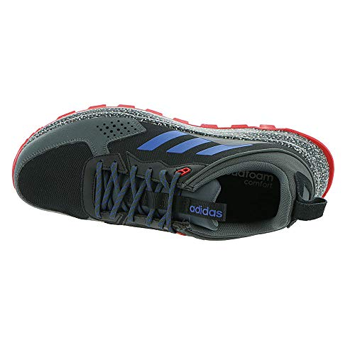 adidas Men's Response Trail Running Shoe, core Black/Team Royal Blue/Grey Six Regular fit Lace closure Ballistic woven upper OrthoLite sockliner As the path winds deeper into the forest, you find your pace and forget your worries. These adidas trail running shoes support confident strides. Welded overlays eliminate stitching while giving the foot a secure feel. The rubber outsole is made to grip in all directions, so you can weave and accelerate without worrying about slipping.
