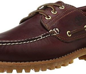 Timberland Men's Traditional Handsewn 3-Eyelet Classic Lug, Burgundy/Brown