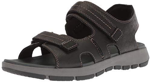 CLARKS Men's Brixby Shore SanCLARKS Men's Brixby Shore Sandal, Black Leatheral, Black Leather