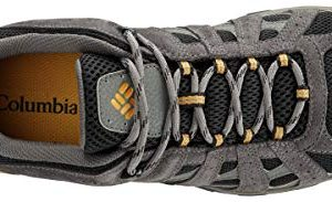 Columbia Men's Redmond Waterproof Hiking Shoe, Black, Squash