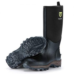TideWe Rubber Neoprene Boots Men and Women, Waterproof Durable