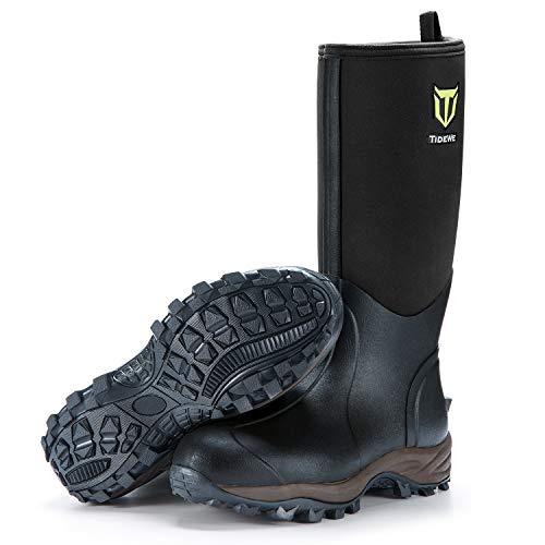 TideWe Rubber Neoprene Boots Men and Women, Waterproof Durable