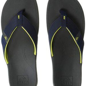 Reef Men's Ortho-Bounce Sport Sandal, Navy/Yellow
