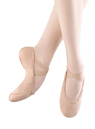 Bloch Girls Pump Split Sole Canvas Ballet Shoe/Slipper, Pink