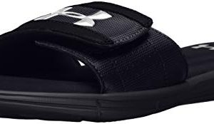 Under Armour Men's Ignite V Slide Sandal, Black (001)/White, 8