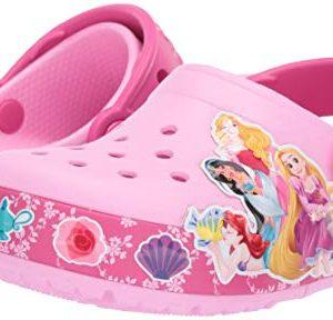 Crocs Kids' Fun Lab Princess Band Light-Up Clog, Carnation, 1 M US Little Kid
