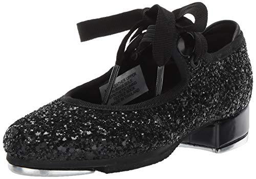 Bloch Girls' Glitter Tap Dance Shoe, Black