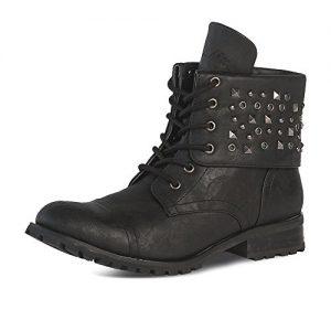 Gia Mia Dancewear Big Girl's Convertible Combat Boot Fashion, Black
