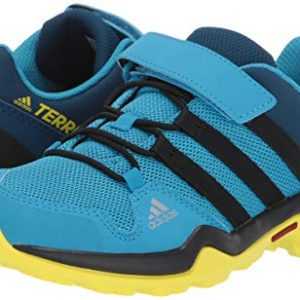 adidas outdoor Terrex AX2R CF Kids Hiking Shoe Boot, Cyan/Black/Shock Yellow