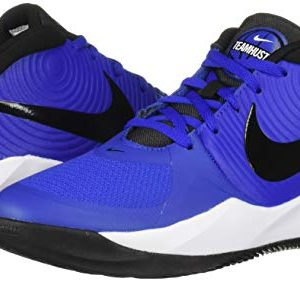 Nike Unisex-Kid's Team Hustle D 9 (GS) Sneaker, Game Royal/Black