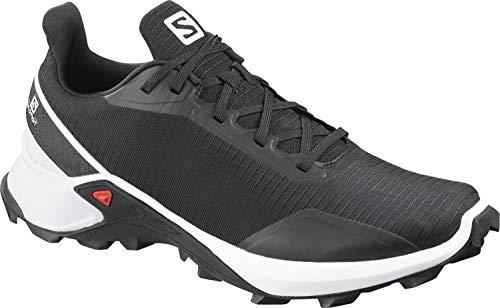 Salomon Men's ALPHACROSS Trail Running Shoe, Black/White/Monument
