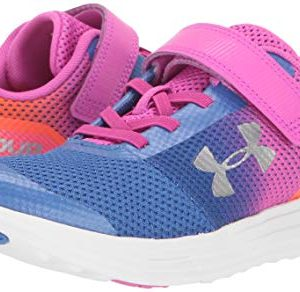 Under Armour Girls' Pre School Surge RN Prism Adjustable Closure Sneaker