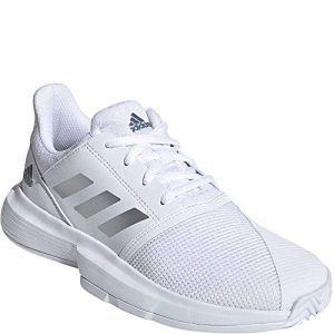 adidas Kids CourtJam X Tennis (Little Kid/Big Kid) White/Silver/Tech