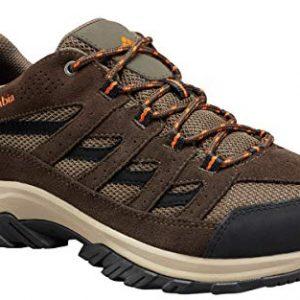 Columbia Men's Crestwood Hiking Shoe, Camo Brown, Heatwave