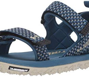 Under Armour Men's Fat Tire Slide Sandal, Petrol Blue/Khaki Base