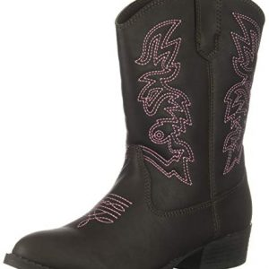 Deer Stags Unisex-Kid's Ranch Pull On Western Cowboy Fashion Comfort Boot