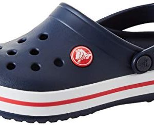Crocs Unisex-Kid's Crocband Clog, Navy/Red
