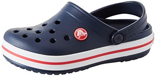 Crocs Unisex-Kid's Crocband Clog, Navy/Red