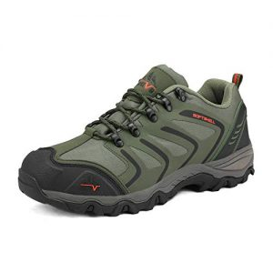 NORTIV 8 Men's-low Army Green Black Orange Low Top Waterproof Hiking Boots