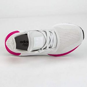 adidas Originals Unisex-Kid's Swift Running Shoe, Crystal White/Crystal White/Black