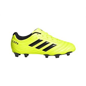 adidas Unisex-Kid's Copa 19.4 Firm Ground Soccer Shoe, Solar Yellow/Black/Solar