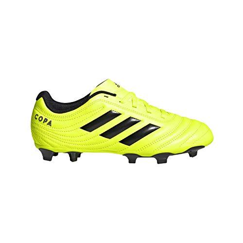 adidas Unisex-Kid's Copa 19.4 Firm Ground Soccer Shoe, Solar Yellow/Black/Solar
