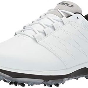 Skechers Men's Pro 4 Waterproof Golf Shoe, White/Black