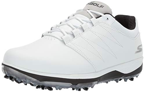 Skechers Men's Pro 4 Waterproof Golf Shoe, White/Black