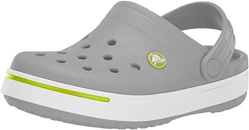 Crocs Kids Crocband II (Toddler/Little Kid) Light Grey/Volt Green