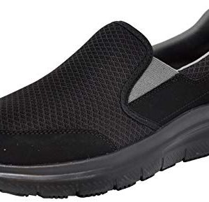 Skechers Men's Flex Advantage Mcallen Slip On, Black/Charcoal
