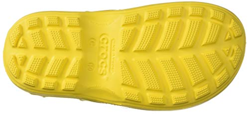 Crocs Kids' Handle It Rain Boots, Easy On for Toddlers, Boys, Girls MAKE A SPLASH: Crocs Handle It Rain Boots for girls and boys keeps those puddle jumping feet cozy and dry for the rainiest of days EASY ON AND OFF: Oversized handles make them easy for kids to take these boots on and off, and also include a reflective heel logo for safety ROOMY FIT: Our most generous, roomy fit across all kids rain boots; Extremely lightweight for kids to keep on their feet for long periods of time EASY TO CLEAN: The Croslite material makes these rain boots extremely easy to clean; Just wash in cold water and mild soap and allow to dry COLORS: These toddler rain boots are available in a number of bright colors to make them great rain boots for girls and boys Durable Product