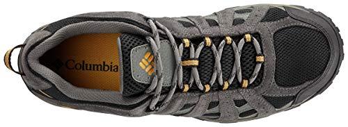 Columbia Men's Redmond Waterproof Hiking Shoe, Black, Squash