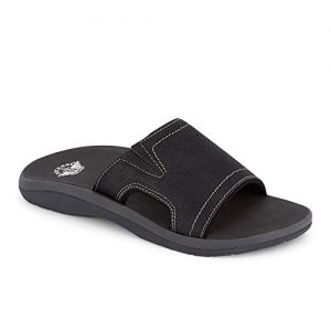 dockers Mens Landing Casual Slide Sandal Shoe, Black
