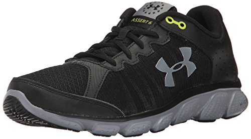 Under Armour Men's Freedom Assert 6 Sneaker, Black (001)/Steel, 8